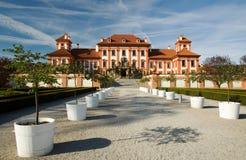 城堡布拉格troja 库存图片