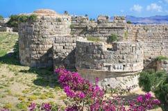 城堡希腊海岛kos 免版税库存照片