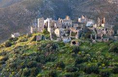 城堡希腊mani vathia 库存图片