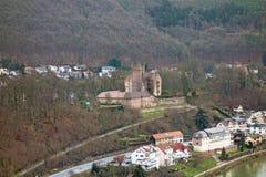 城堡废墟名为Vorderburg 库存图片