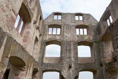城堡废墟在奥彭海姆 免版税库存图片