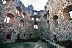 城堡废墟在德国 库存照片