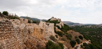 城堡废墟在以色列 库存图片