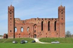 城堡废墟在Radzyn Chelminski,波兰 免版税图库摄影