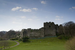 城堡废墟斯旺西 免版税库存图片