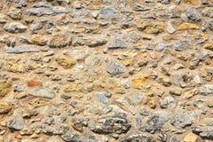城堡废墟的老石墙 图库摄影