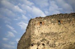 城堡废墟的细节 图库摄影