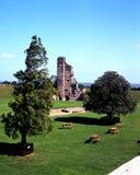 城堡废墟, Tutbury,英国。/ 免版税库存图片
