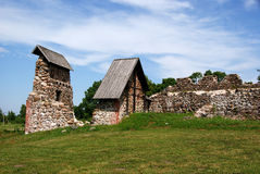 城堡废墟 免版税库存图片