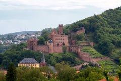 城堡废墟wertheim 免版税库存照片