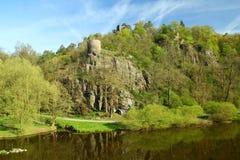 城堡废墟Zboreny Kostelec,捷克共和国 免版税图库摄影