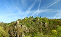 城堡废墟Zboreny Kostelec,捷克共和国 库存照片