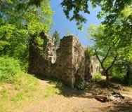 城堡废墟Zboreny Kostelec,捷克共和国 免版税库存照片