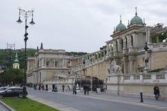 城堡庭院义卖市场北部街道视图 免版税库存照片