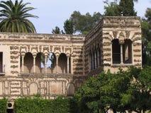 城堡庭院塞维利亚 免版税库存图片