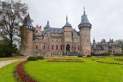 城堡德哈尔在荷兰 免版税图库摄影
