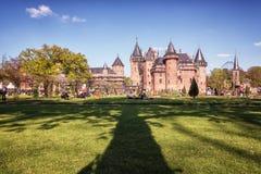 城堡德哈尔是矮子幻想的设置公平与在Th 库存图片
