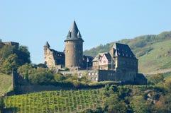 城堡德国历史stahleck 图库摄影