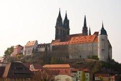 城堡德国小山meissen 免版税图库摄影