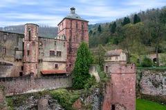 城堡德国海得尔堡 库存图片
