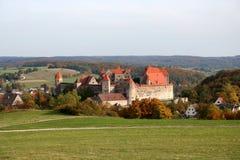 城堡德国harburg 库存图片