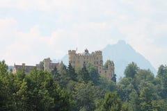 城堡德国hohenschwangau 库存图片