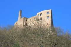 城堡德国idar oberstein废墟 免版税库存照片