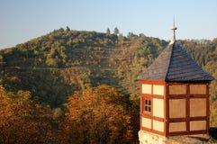 城堡德国marksburg 免版税库存图片