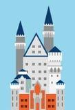 城堡德国neuschwanstein 免版税库存照片