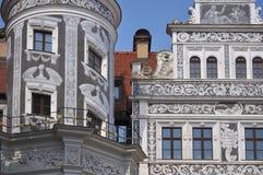 城堡德累斯顿门面刻于墙上的文字 免版税库存照片