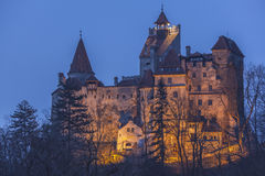 城堡德雷库拉・ transylvania 免版税库存照片