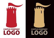 城堡徽标 库存图片