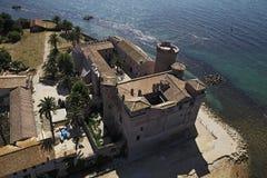 城堡意大利拉齐奥odescalchi palo 免版税库存照片
