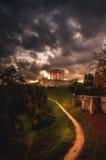 城堡意大利老 免版税库存图片