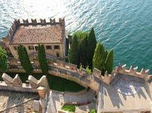 城堡意大利malcesine 库存图片