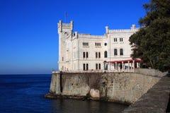 城堡意大利miramare的里雅斯特 图库摄影