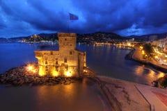 城堡意大利rapallo 库存图片