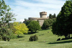 城堡意大利volterra 图库摄影