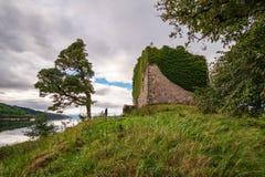 城堡拉克伦遗骸  库存照片