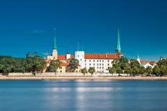 城堡拉脱维亚老总统住宅里加城镇 库存照片