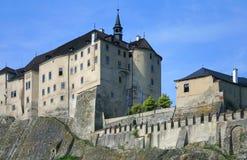 城堡捷克共和国sternberg 库存照片