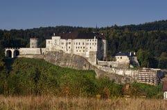 城堡捷克哥特式sternberk 库存图片