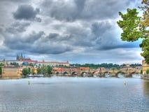 城堡捷克布拉格共和国 库存图片