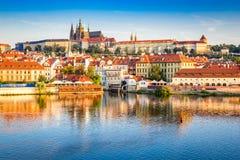 城堡捷克布拉格共和国 库存照片