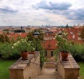 城堡捷克庭院palffy布拉格共和国 免版税库存图片