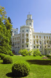 城堡捷克hluboka共和国 免版税库存照片