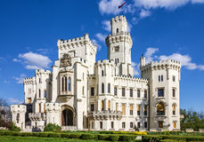 城堡捷克hluboka nad共和国vltavou 库存图片