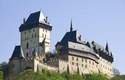 城堡捷克karlstein共和国 库存照片
