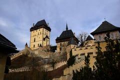城堡捷克karlstejn共和国 库存照片