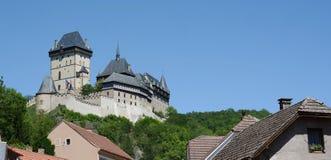 城堡捷克karlstejn共和国 图库摄影